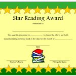 Star Reading Award Certificate