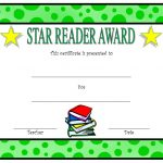 Star Reading Award Certificate 2