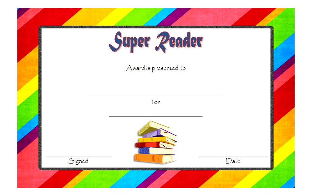 Super Reader Certificate Template 1