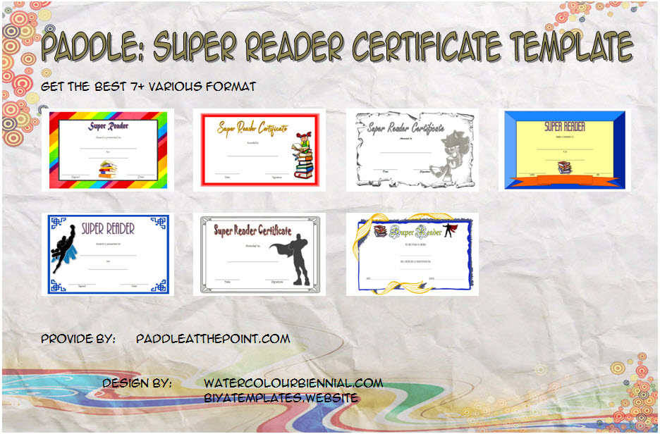 Download 7+ Best Ideas of Super Reader Certificate Template for Star Students Award, Accelerated, Achievement, or Summer Reading with many formats!