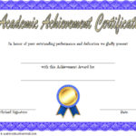Academic Achievement Certificate Template 1
