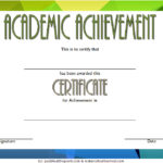 Academic Achievement Certificate Template 10