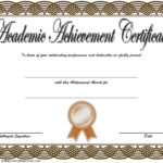 Academic Achievement Certificate Template 2