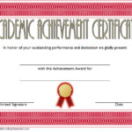 Academic Achievement Certificate Template 3