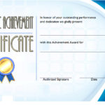 Academic Achievement Certificate Template 4