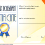 Academic Achievement Certificate Template 5