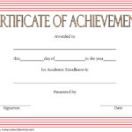 Academic Achievement Certificate Template 6