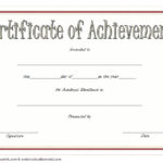 Academic Achievement Certificate Template