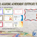 Academic Achievement Certificate Template by Paddle