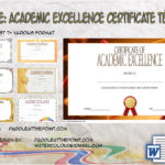 Academic Excellence Certificate Template By Paddle At The Point