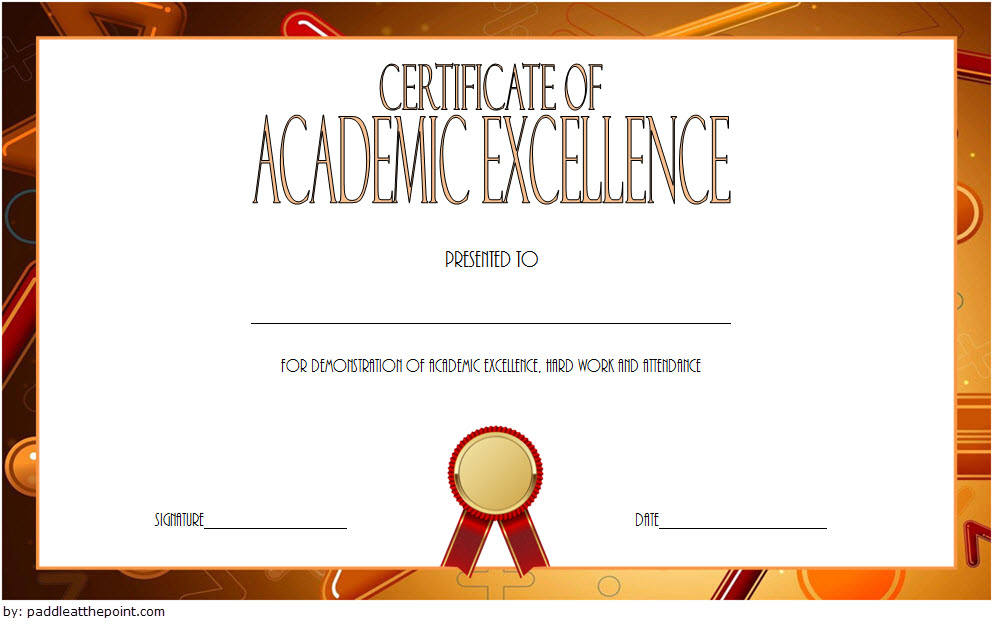 Academic Excellence Certificate With New Style 1