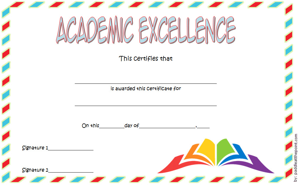 Academic Excellence Certificate With New Style 2
