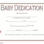 Baby Dedication Certificate Templates