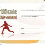 Badminton Achievement Certificate Template 1