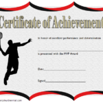 Badminton Achievement Certificate Template 3
