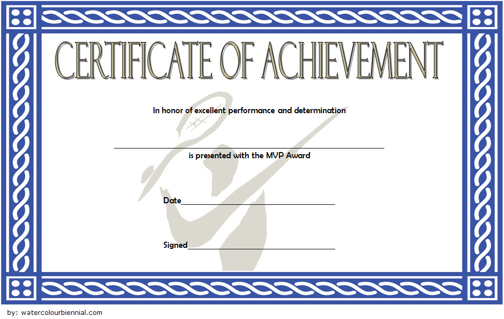 Badminton Achievement Certificate Template 4