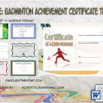 Badminton Achievement Certificates By Paddle