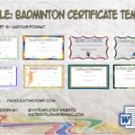 Badminton Certificate Template By Paddle
