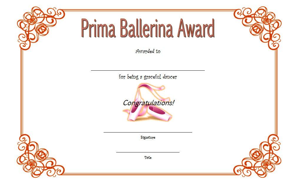 ballet certificate template, ballet certificate of achievement, ballerina award certificate templates, ballet certificate printable, dance certificate templates for word, ballet competition certificate, dance competition certificate
