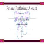 Ballet Certificate Template
