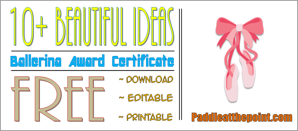 Ballet Certificate Template Free (2020 Customizable Format) by Paddle