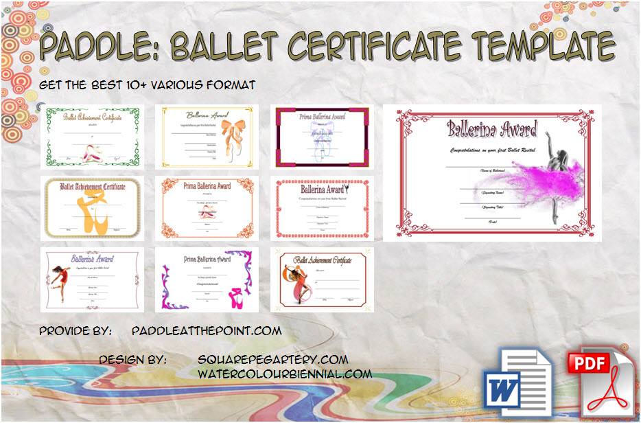 Download 10+ Beautiful Ideas of Ballet Certificate Template free for ballerina, competition, achievement, award, dance, more formats and ready to print!