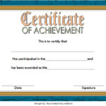 Basketball Achievement Certificate Template 3