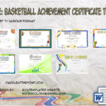 Basketball Achievement Certificate Templates By Paddle