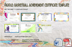 Basketball Achievement Certificate Templates