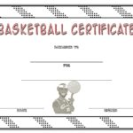 Basketball Certificate Template 4