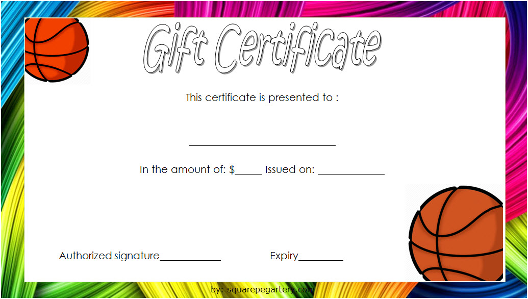 Basketball Gift Certificate Template 1