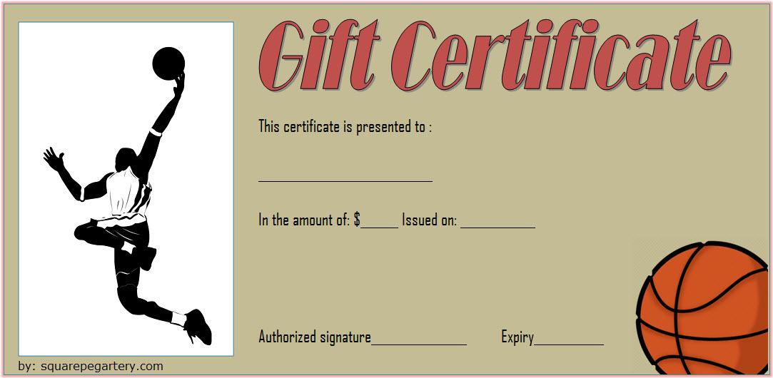 Basketball Gift Certificate Template 2