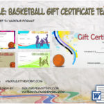 Basketball Gift Certificate Template By Paddle