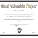 Basketball MVP Certificate Template 1