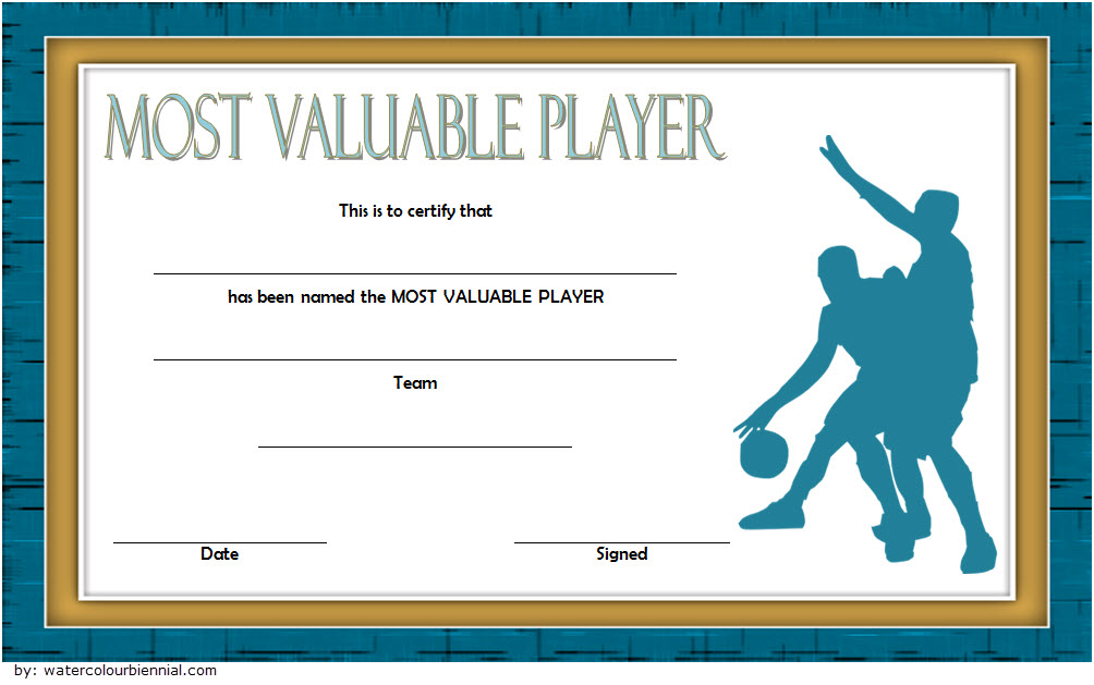 Basketball Mvp Certificate Template Most Valuable Player Players