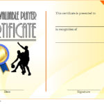 Basketball MVP Certificate Template