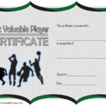 Basketball MVP Certificate Template 3