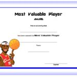 Basketball MVP Certificate Template 7