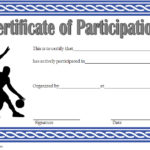 Basketball Participation Certificate Template 2
