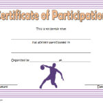 Basketball Participation Certificate Template 3
