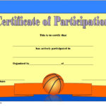 Basketball Participation Certificate Template 4