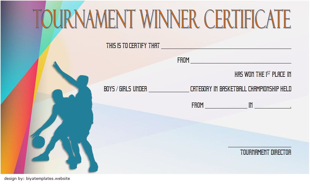 Basketball Tournament Certificate Template 10