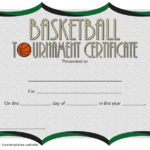 Basketball Tournament Certificate Template 2