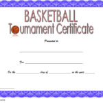 Basketball Tournament Certificate Template 4