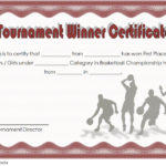 Basketball Tournament Certificate Template 6