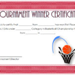 Basketball Tournament Certificate Template 7
