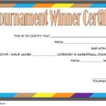 Basketball Tournament Certificate Template 9