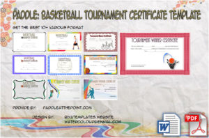 Basketball Tournament Certificate Template