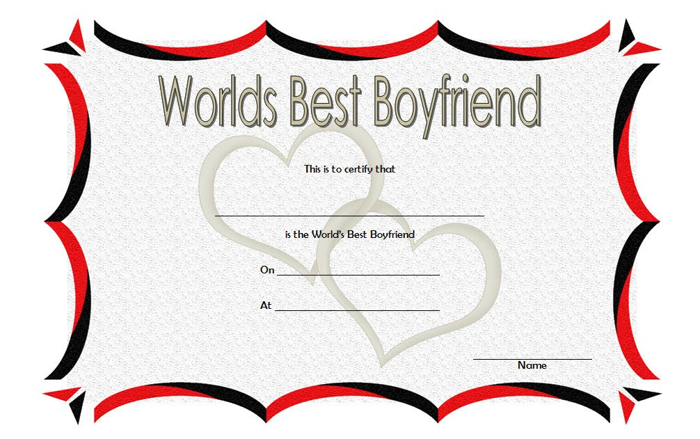 best boyfriend certificate template, world's best boyfriend certificate template, personalized best boyfriend certificate, best boyfriend in the world certificate template, world's best lover certificate, best boyfriend ever certificate, valentine gift for boyfriend ideas, award certificate template