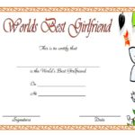 Best Girlfriend Certificate Template 7